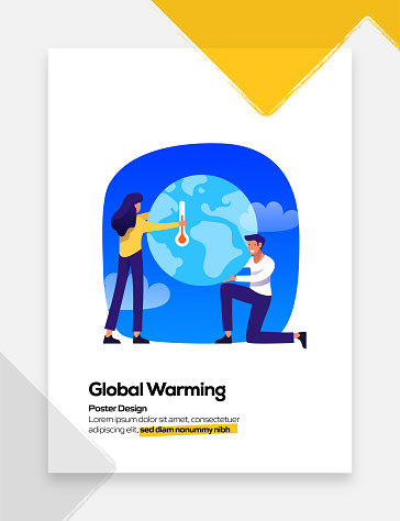 Global Warming Concept for Posters, Covers and Banners. Modern Flat Design Vector Illustration.