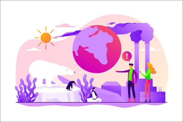 ilustrações de stock, clip art, desenhos animados e ícones de global warming concept vector illustration. - alter do chão