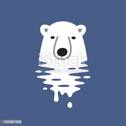 Polar bear. Files included: Vector EPS 10, HD JPEG 4000 x 4000 px