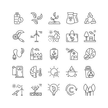 Global Warming Icon Set
