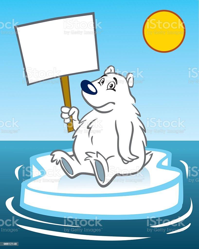 Global Warming Polar Bear - Royaltyfri Arktis vektorgrafik