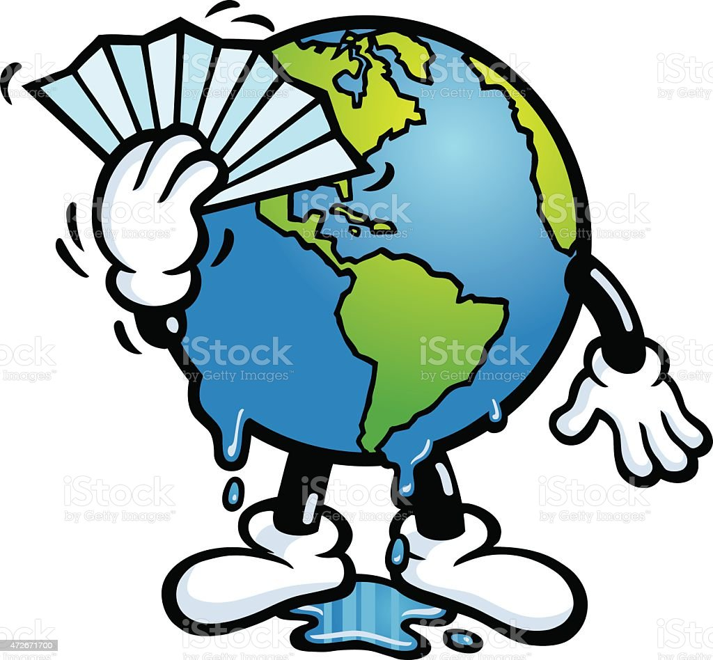 royalty free global warming sign with earth melting clip art vector rh istockphoto com free clipart global warming