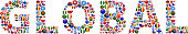 Global World Flags Vector Buttons. The word is composed of various flag buttons. It represents globalization and cooperation between nations. The flag buttons fill in the letters and form a seamless pattern. Flags include United States, Great Britain, Germany, Canada, European Union, Russia, Switzerland, Israel, China and many more.