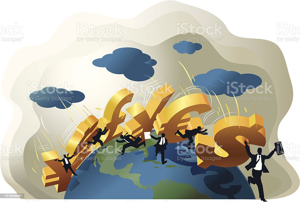 Global_domino_effect royalty-free stock vector art