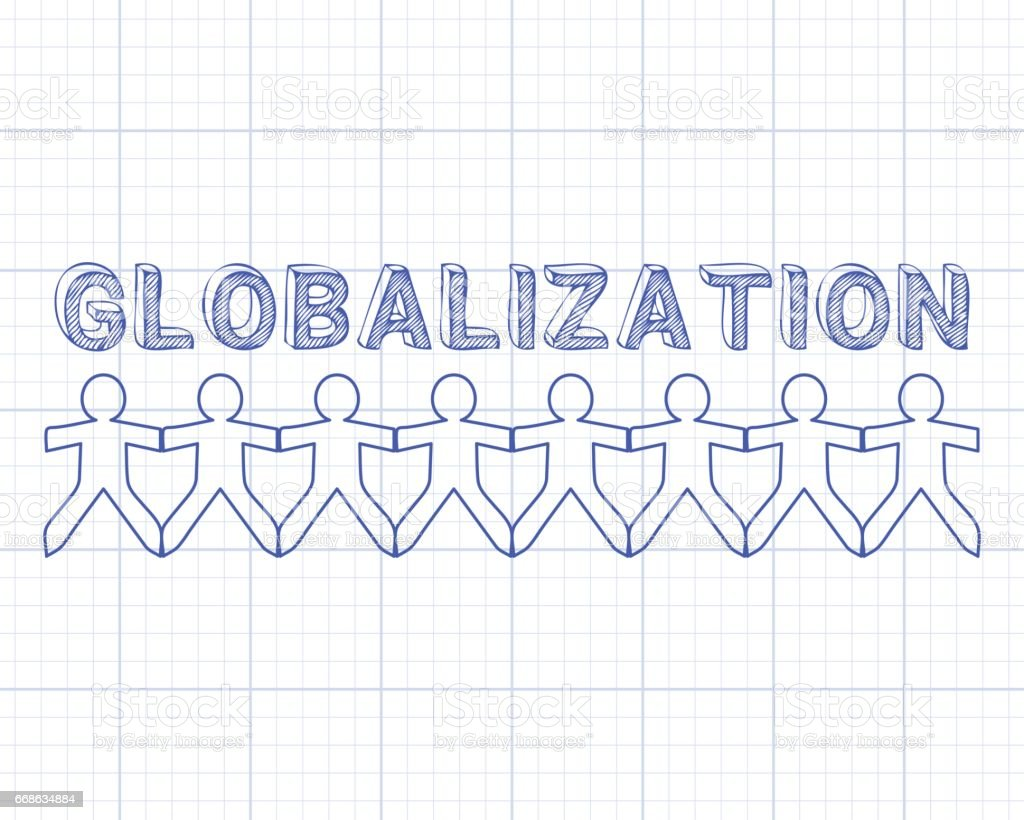 Globalization people graph paper stock vector art 668634884 istock blueprint graph uk global globalization malvernweather Gallery