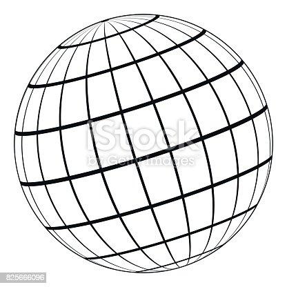 Globus 3dmodell Der Erde Oder Des Planeten Modell Der