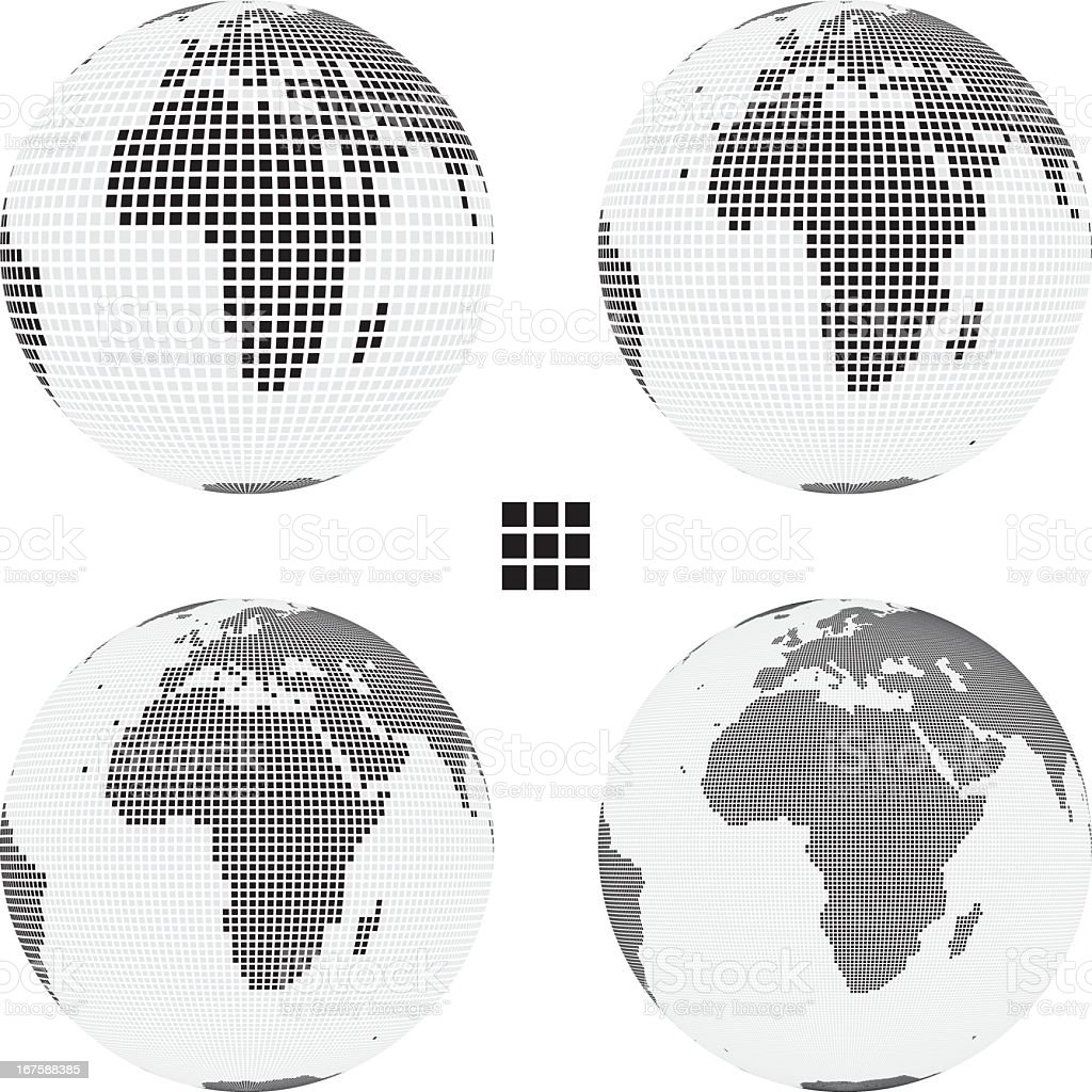 Globe: Africa, Europe and Asia royalty-free globe africa europe and asia stock vector art & more images of africa