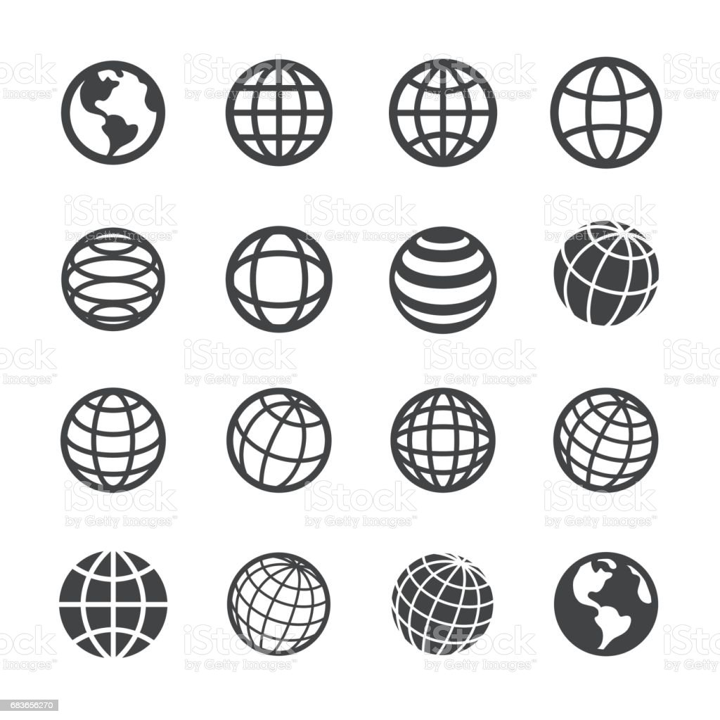 Globe and Communication Icons - Acme Series - Royalty-free Abstrato arte vetorial