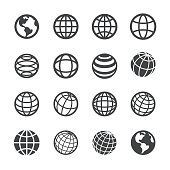 Globe and Communication Icons