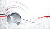 Vector illustration globe background. EPS 8.  ZIP includes  high res JPG  and Ai CS3 files.