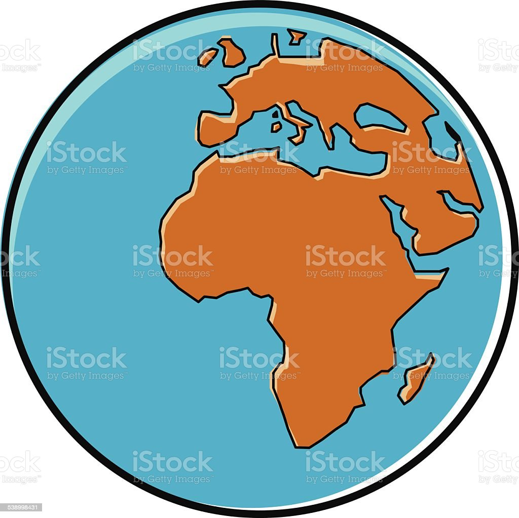 Globe cartoon showing africa continent stock vector art 538998431 globe cartoon showing africa continent royalty free stock vector art sciox Images