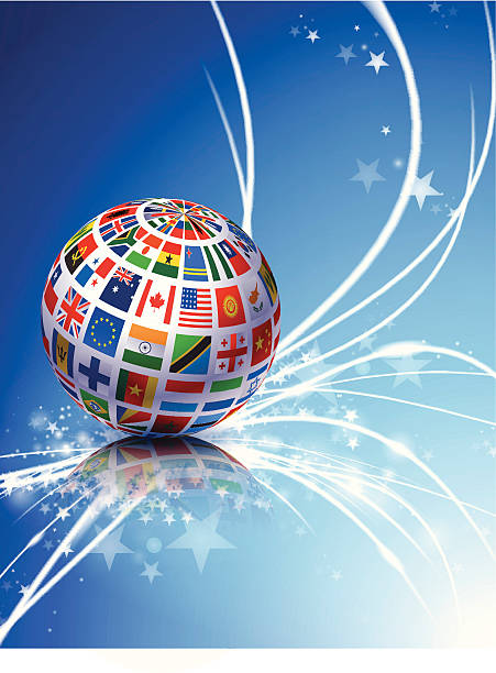 플랙 취득하십시오 추상적임 광선로 배경기술 - united nations stock illustrations