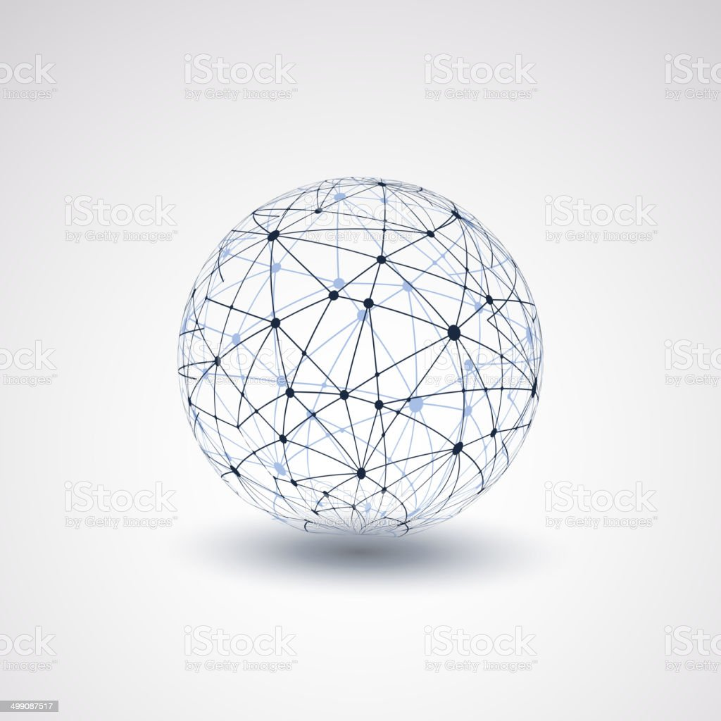 Globe Design - Networks vector art illustration