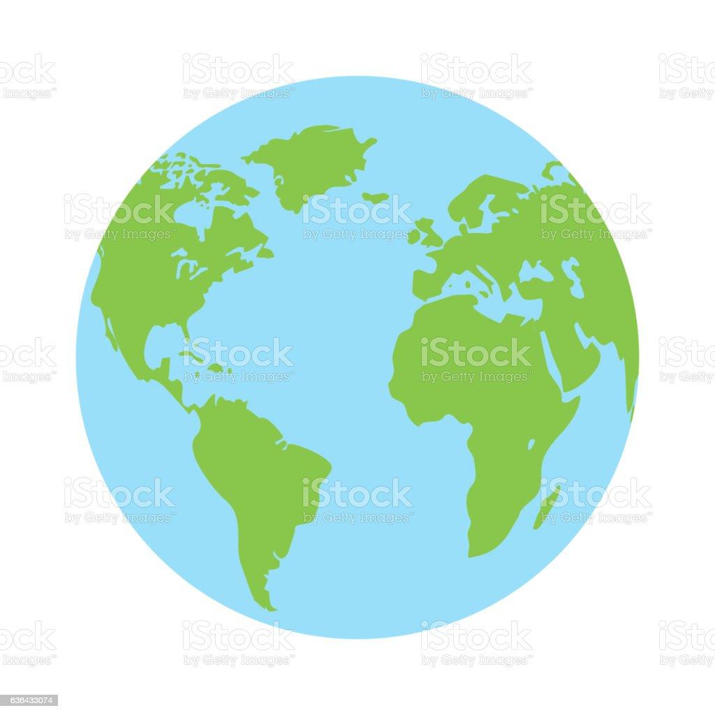 Icono de vector planeta tierra - ilustración de arte vectorial