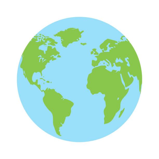 Globe earth icon vector vector art illustration