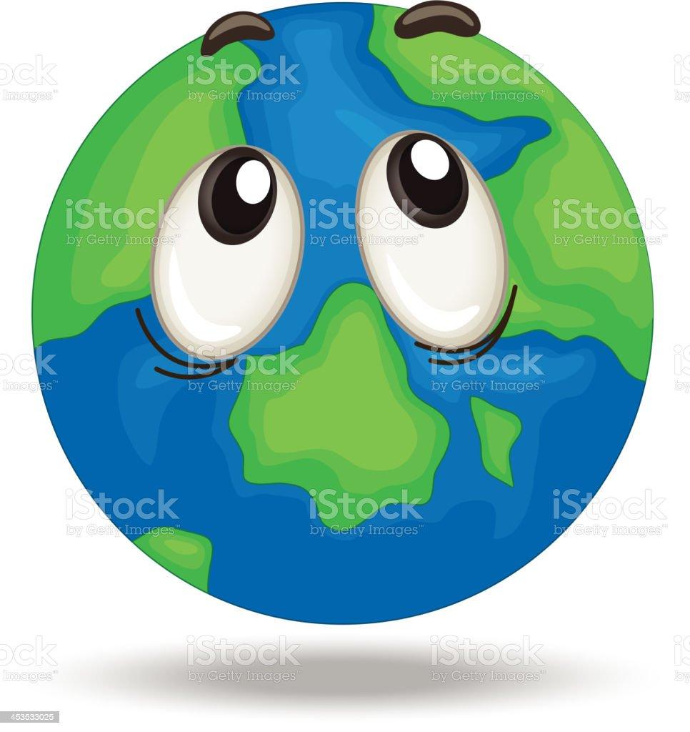globe face royalty-free stock vector art