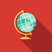 Globe Flat Design Charity & Donation Icon
