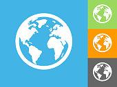istock Globe  Flat Icon on Blue Background 1029091080