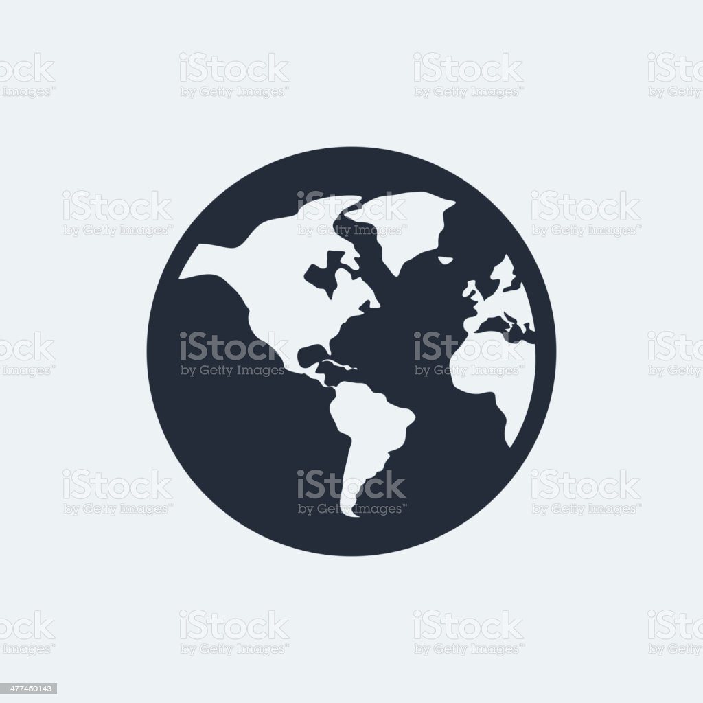 Globe flat icon stock vector art 477450143 istock globe navigational equipment planet space planet earth single object world map globe flat icon gumiabroncs Image collections