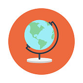 globe flat vector icon