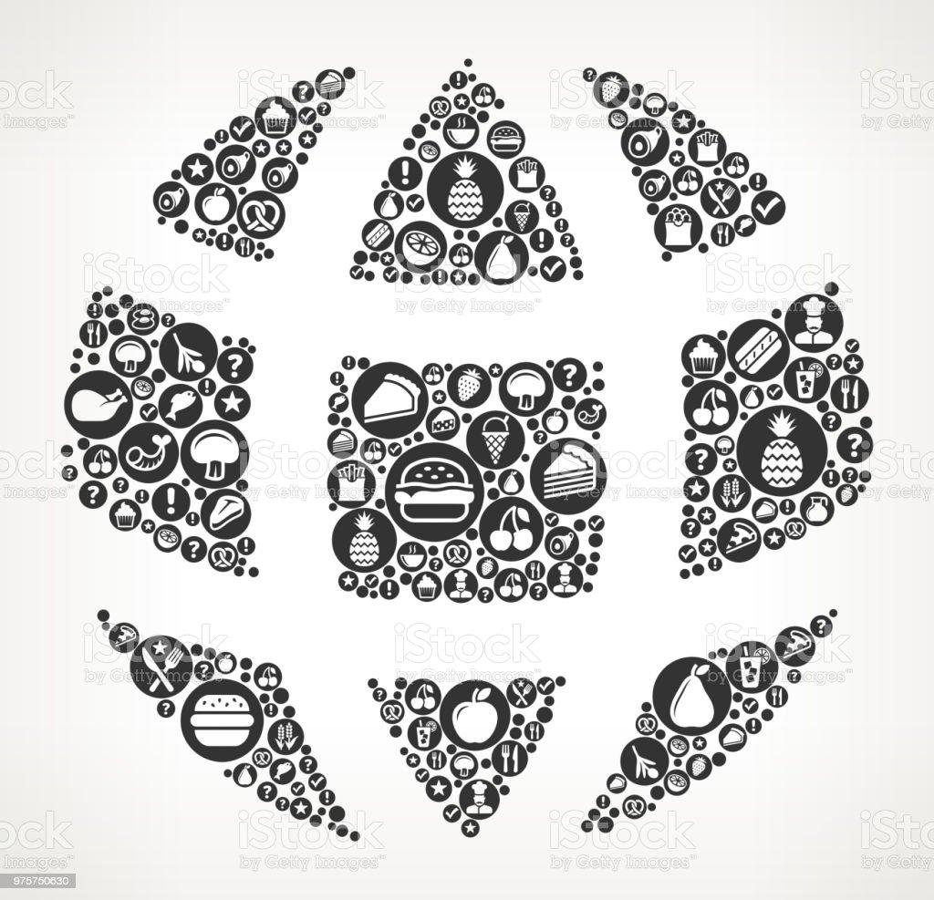 Globus essen schwarz-weiß Symbol Hintergrund - Lizenzfrei Abnehmen Vektorgrafik