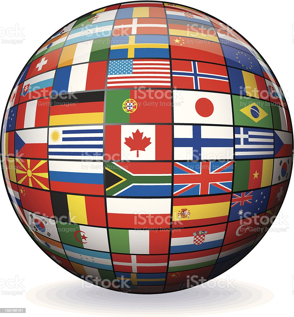 Globe from World Flags. Vector Image royalty-free stock vector art
