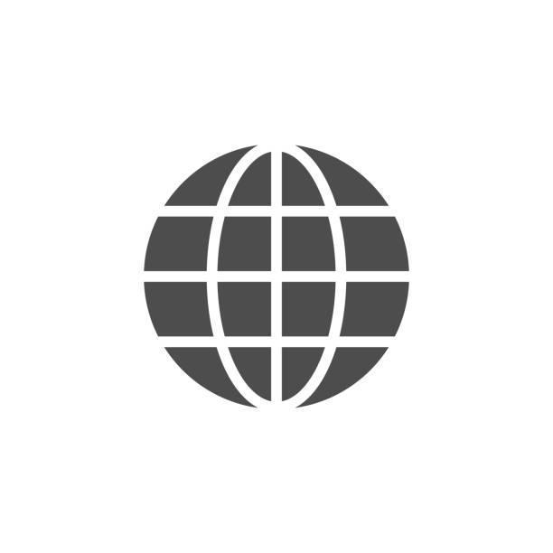 Icono del globo y concepto del mundo - ilustración de arte vectorial