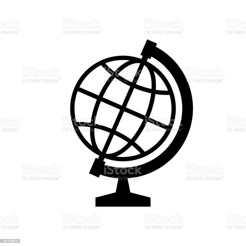 globe icon black minimalist icon isolated on white background stock rh istockphoto com globe vectoriel free globe vector free black and white