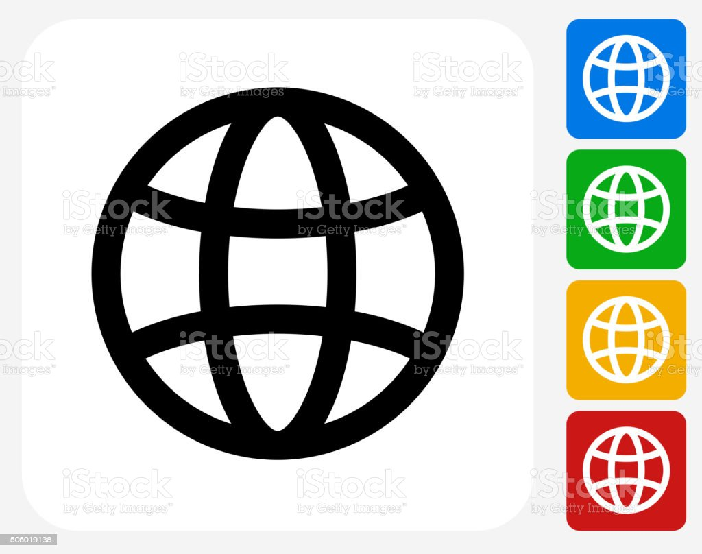 Globe Icon Flat Graphic Design royalty-free globe icon flat graphic design stock illustration - download image now