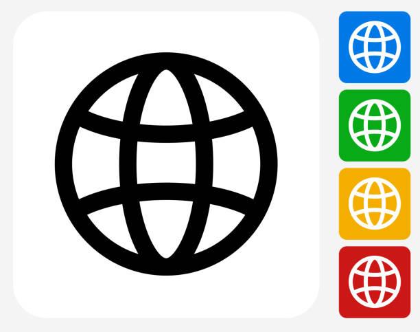 illustrations, cliparts, dessins animés et icônes de icône de globe à la conception graphique - www