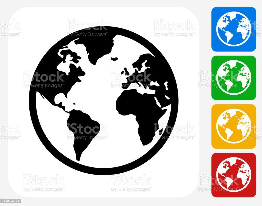 globe icon flat graphic design stock vector art more images of rh istockphoto com globe vector free download world globe vector art