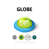 Globe icon in different style