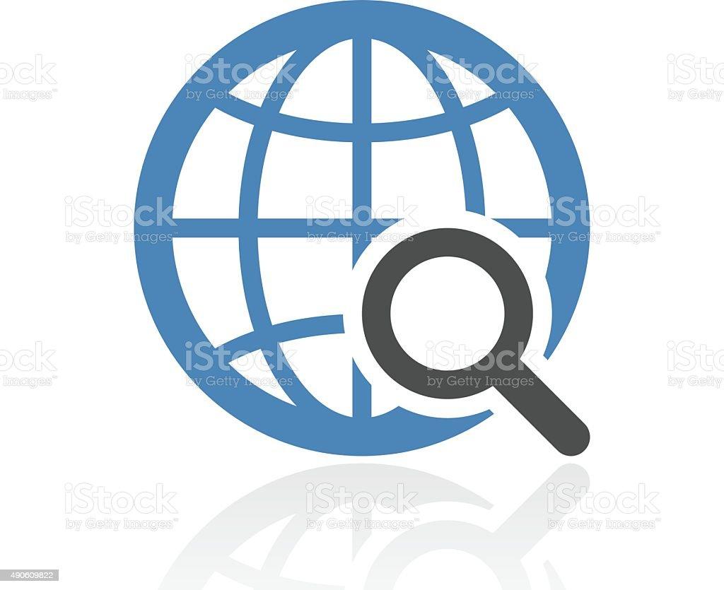 Globe icon on a white background. - RoyalSeries vector art illustration