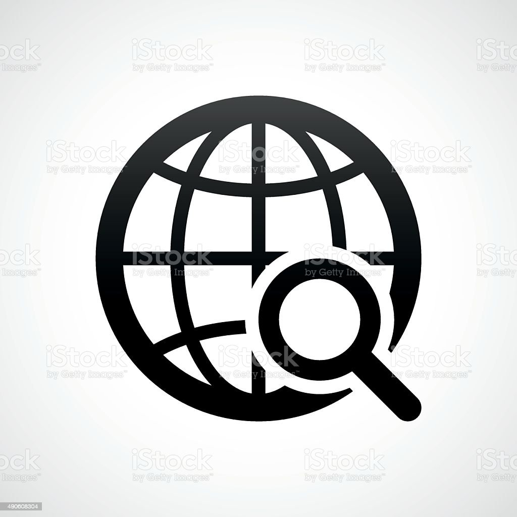Globe icon on a white background. - ShadeSeries vector art illustration