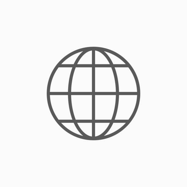 Icono de globo - ilustración de arte vectorial