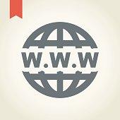 Globe icon, vector illustration.