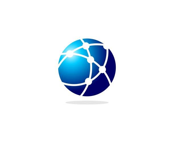 globe icon - global communications stock illustrations, clip art, cartoons, & icons