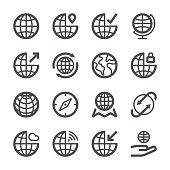 Globe Icons set 1 | Stroke Series