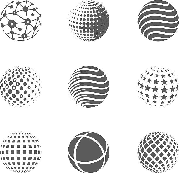 Globe icons vector art illustration