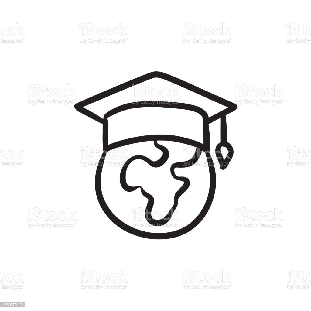 Ilustración De Globo En Icono De Tapa De Graduación Dibujo Y Más