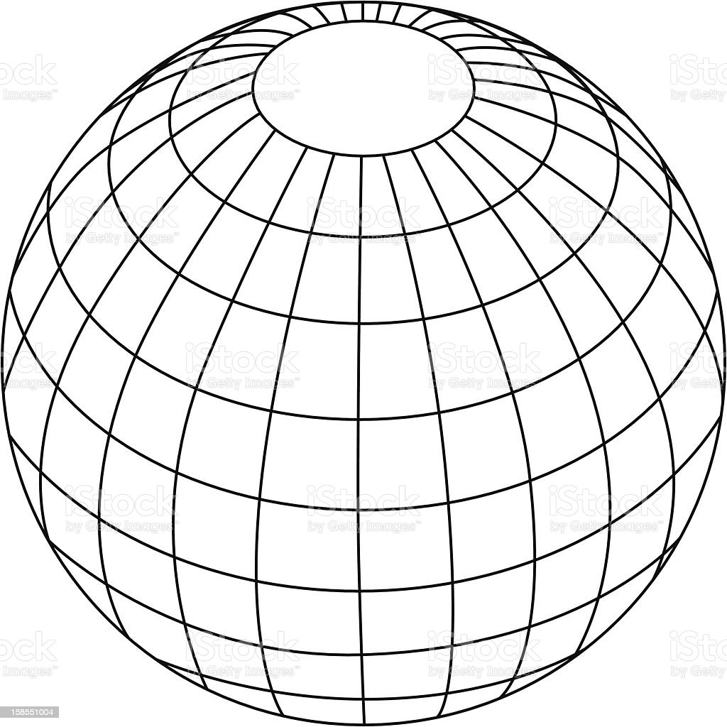 Globe in outlines royalty-free stock vector art