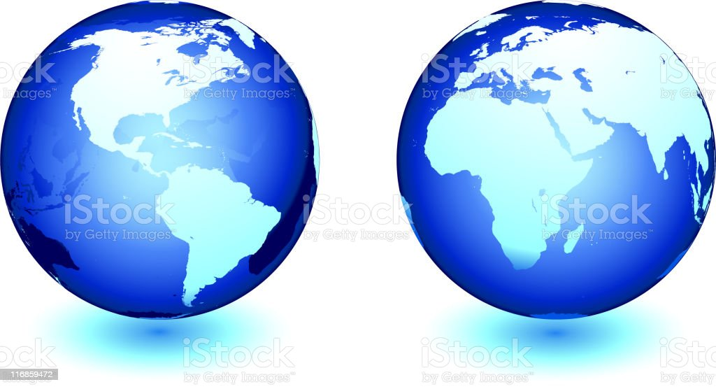 globe in two views royalty-free stock vector art