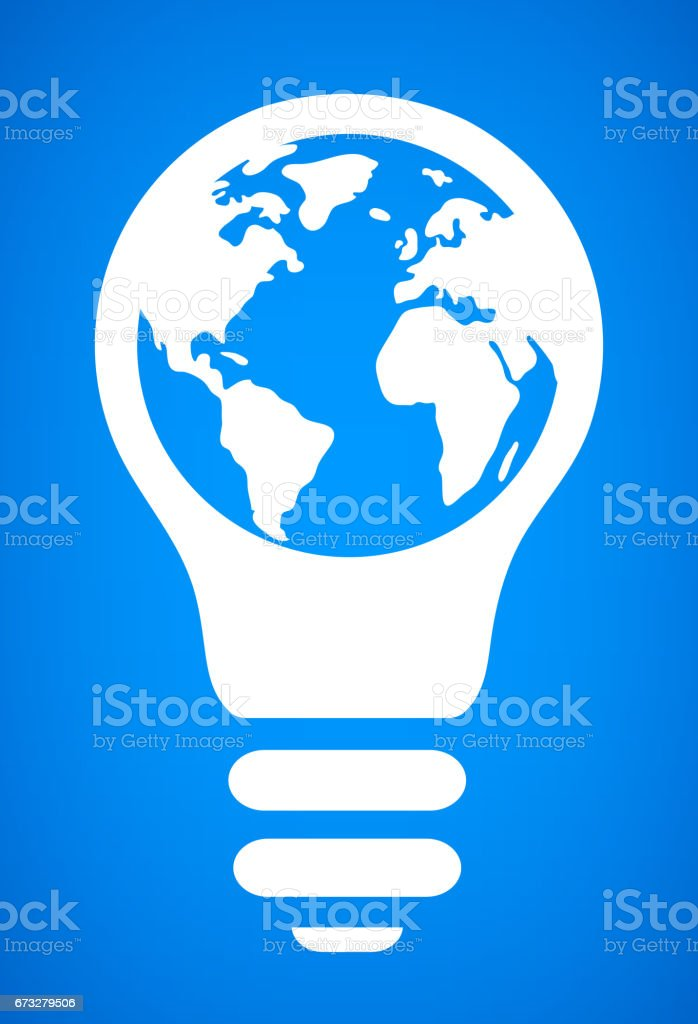 Globe ampoule conceptuel Vector Illustration - Illustration vectorielle