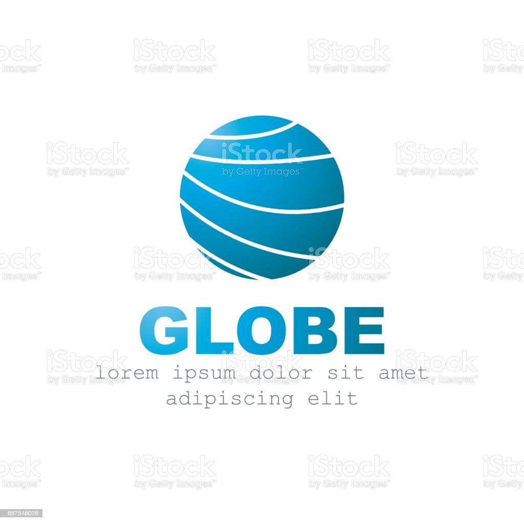 Globe Logo Design Vector Template Company Logotype Vector