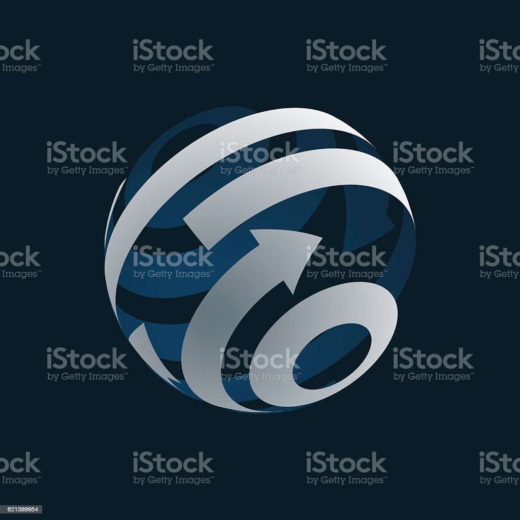 Globe Logo Element symbol of Globalization. . vector art illustration
