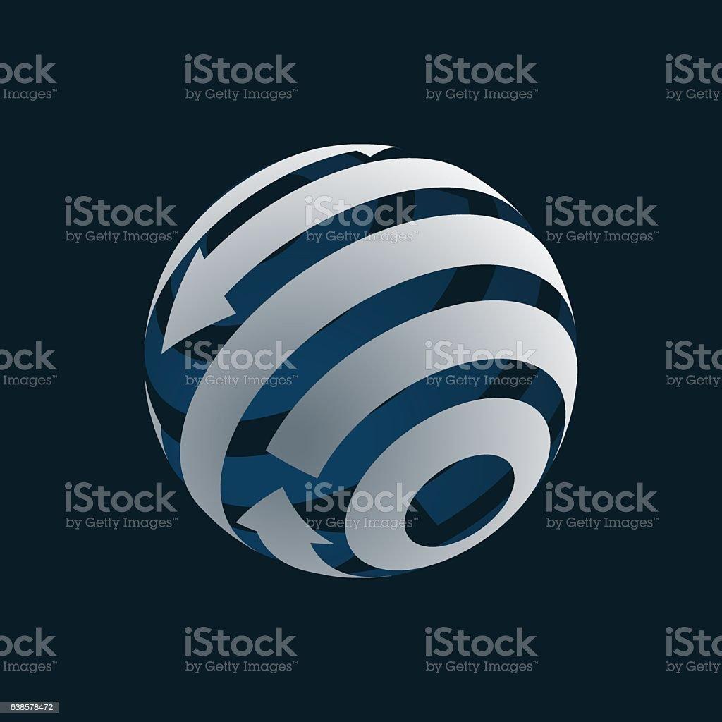 Globe Logo Element Symbol Of Globalization Stock Vector Art More