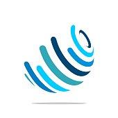 Globe Logo Template for Communication Business Illustration Design. Vector EPS 10.
