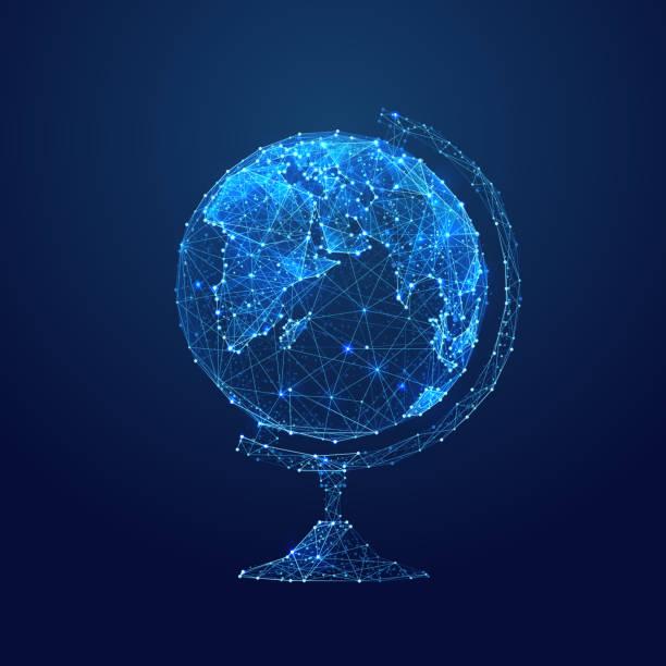 全球低聚藍 - 金融與經濟 幅插畫檔、美工圖案、卡通及圖標