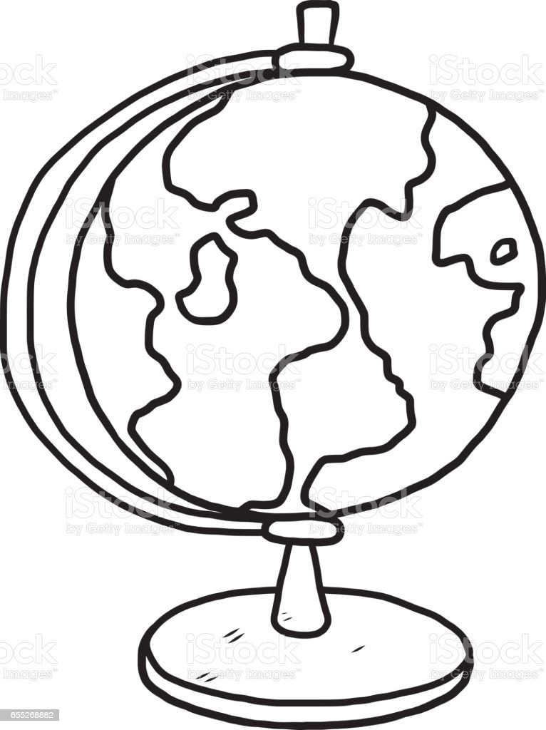 Captivating Globe Model Vector Art Illustration