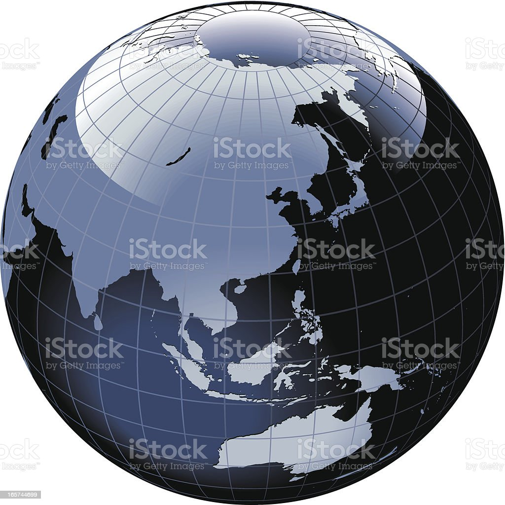 Globe of the World. Asia and Australia royalty-free stock vector art